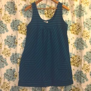 Teal & turquoise stripped tank top